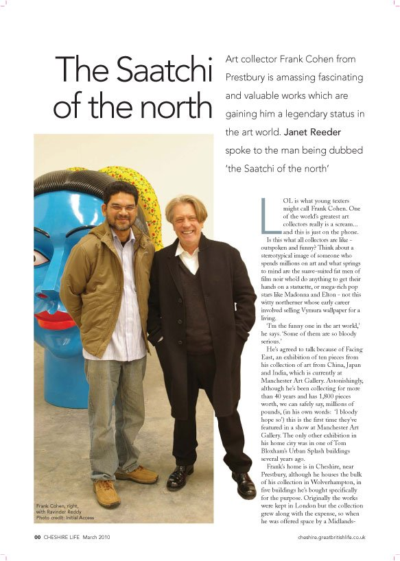Cheshire Life – The Saatchi of the north By Janet Reeder