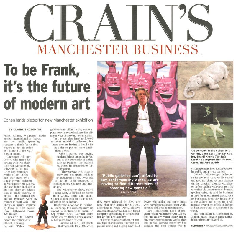Crains Manchester Business – To be Frank, its the future of modern art By Claire Shoesmith